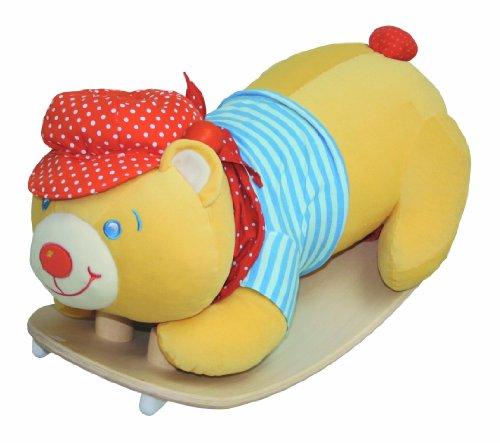 roba Schaukelbär, Schaukeltier 'Bär' mit weicher Stoff-Polsterung, Schaukelsitz für Kleinkinder, Schaukelspielzeug ab 18 Monate