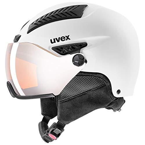 uvex Unisex- Erwachsene, hlmt 600 visor Skihelm, white mat, 55-57 cm