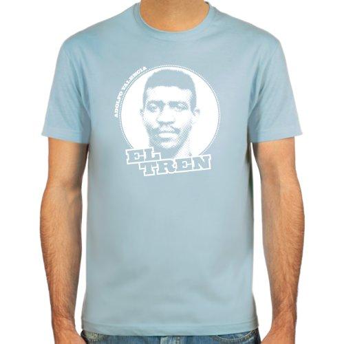 "SpielRaum Camiseta Adolfo ""el Tren"" Valencia ::: Color: azul claro, beige, rojo, negro, verde oliva o azul oscuro ::: Tallas: S-XXL (Fútbol)"