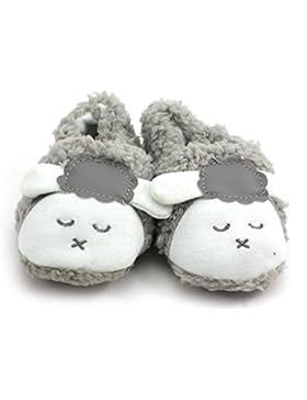 Nette Schafe Design Baby Kleinkinder Prewalker Weiche Koralle Samt Warme Schuhe Grau 14cm