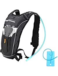 Odsports Black Waterproof 5L Cycling Backpack MTB Bike Hydration Backpack Lightweight Sport Tra El Backpack Water...