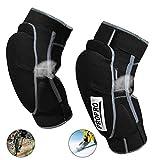 BLLJQ Ginocchiere Sportive Protezioni per Le Ginocchia della Protezione Tenere Caldo Racing Ginocchio Snowboard Protezione Attrezzatura 2 PCS,S