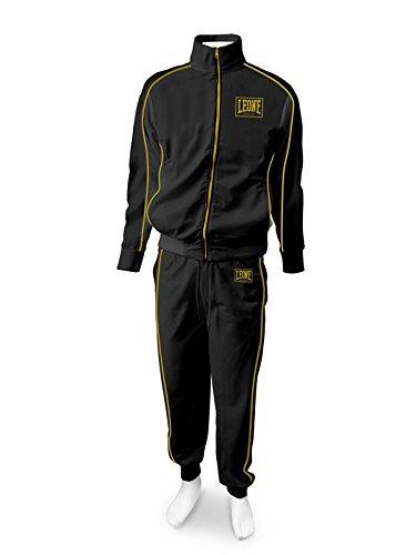 Tuta Sportiva Completa (Giacca e Pantaloni) Leone AB798 Nero (Small)