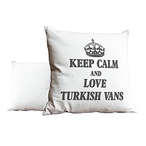 Gris Keep Calm and Love Turc Vans Blanc Scatter Taie d'oreiller 1896