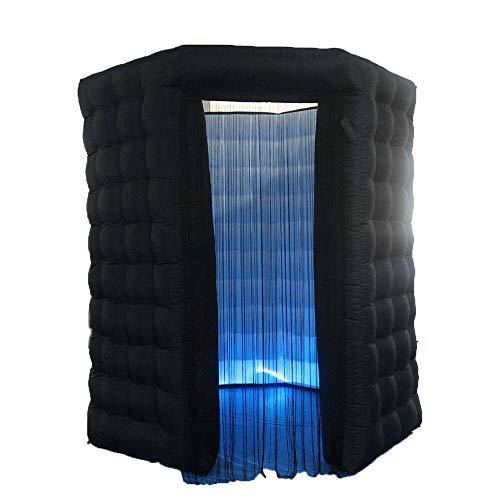 SENDERPICK - Caja de Cabina de Fotos Hinchable portátil con iluminación LED,...