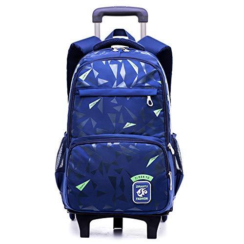 CWTCHZ Abnehmbare Trolley Rucksack Radtaschen Kinder Schultasche Jungen Reisetaschen Kinder Schulrucksäcke Mit Rädern (Tier-rucksack Mit Rädern)