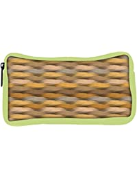 Snoogg Eco Friendly Canvas Endless Texture In Warm Colors Student Pen Pencil Case Coin Purse Pouch Cosmetic Makeup...