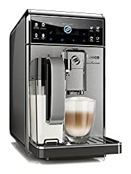 Saeco HD8975/01 GranBaristo Kaffeevollautomat, AquaClean, integrierte Milchkaraffe, silber
