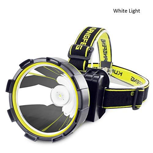 Lovely Glare LED-Scheinwerfer Super Bright Langstreckenladung Nachtfischen Außenbeleuchtung Bergmanns Kopf mit Taschenlampe (Color : 35W White Light) - Bergmann Tasche