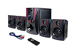 tech addict Bulls Eye 4.1 Home Theatre System (Red and Black)