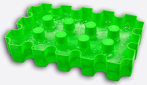 SL-Eisblock - Bierkühler, neon-grün, Getränkekühler für 0,33 Liter Flaschen der sl-EISBLOCK Bierkastenkühler ist MADE IN GERMANY (neon - grün)