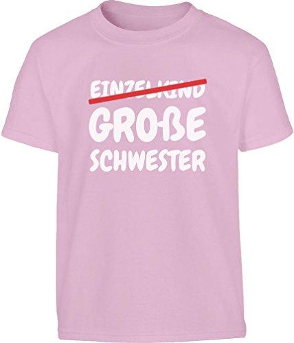 Präsent Große Schwester statt Einzelkind Kleinkind Kinder T-Shirt - Gr. 86-128 86/92 (1-2J) Rosa (Große Schwester-kleinkind-shirt)