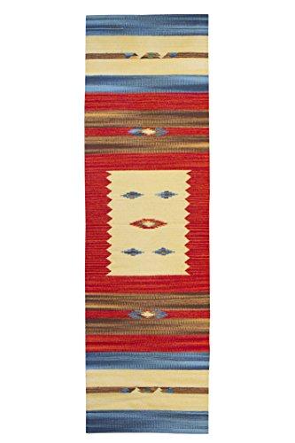 Jute & co. kilim tappeto, passatoia in cotone di alta qualità tessuto a mano, multicolore, 60 x 200 cm