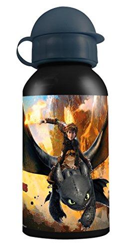 Preisvergleich Produktbild p:os 25950 DreamWorks Dragons Trinkflasche, Aluminium, 400 ml