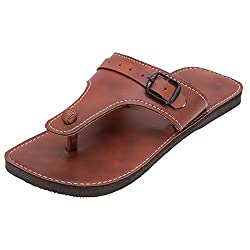 Footrendz Mens Ethnic Brown Flats (12 UK)