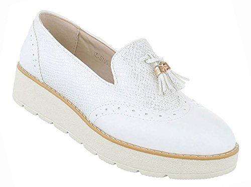 Damen Schuhe Halbschuhe Slipper Freizeitschuhe Schwarz Weiß