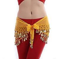NOISY 3 ROWS BELLY DANCE HIP SCARF WRAP BELT DANCER SKIRT UK18-22 XXL PLUS SIZE