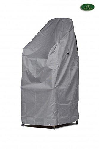 Schutzhuellenprofi Bâche de protection en polyester Oxford 600D pour chaises de jardin empilables Gris clair Taille XL