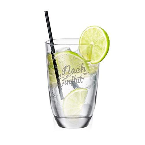 4youDesign Gin-Glas Nach Mir die GINflut - lustiger Partygag - für Gin Trinker - Geschenkidee für Weihnachten/zum Geburtstag - für sie/ihn