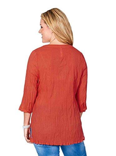 Sheego Damen-Tunika Tunika mit Spitze Orange Orange