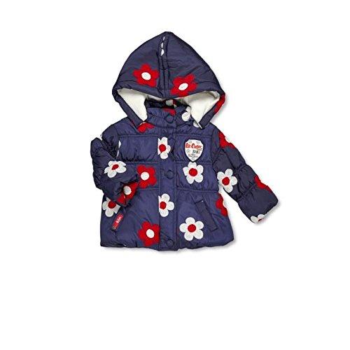 Lee Cooper-Parka con cappuccio per neonato, da femminuccia blu 24 mesi