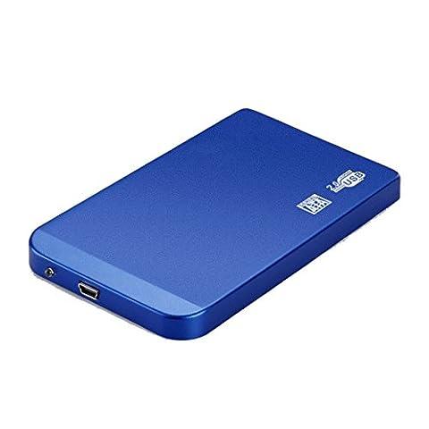 Fall für SATA HDD High Speed USB 2.0 externes Gehäuse SATA HDD und SSD in 2.5 '' blau