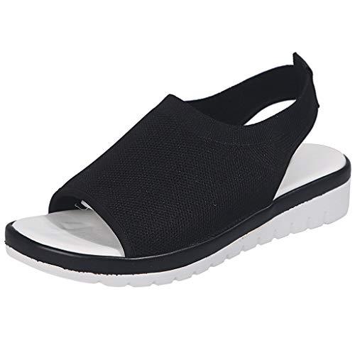 Bluestercool Sandali Donna Estivi Spesse Signore Comfort Traspirante Scavare Fuori Cunei Casuale Scarpe SandaliEstiveCasuale Spiaggia 2019