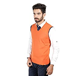 Numero Uno Orange Sleeveless Sweater (X-Large)