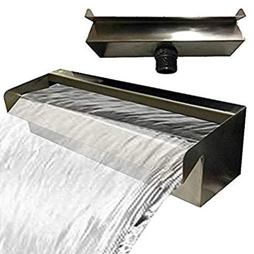 Edelstahl Wasserfall Wasserspiel Kaskade V2A Made in Germany 30,60,90cm (30 cm)
