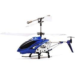 Laurelmartina Original Syma S107G Gyro Metal Radio Infrarrojo 3CH Mini Helicóptero Control Remoto RC Drone Volador para Juguetes Regalo Presente RTF