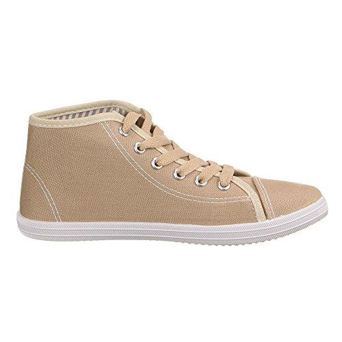 Ital-Design - Pantofole a Stivaletto Donna Marrone (Marrone chiaro)