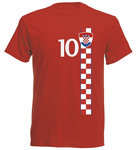 Kroatien Kinder T-Shirt Trikot St-1 EM 2016 - rot Hrvatska Kids (140)