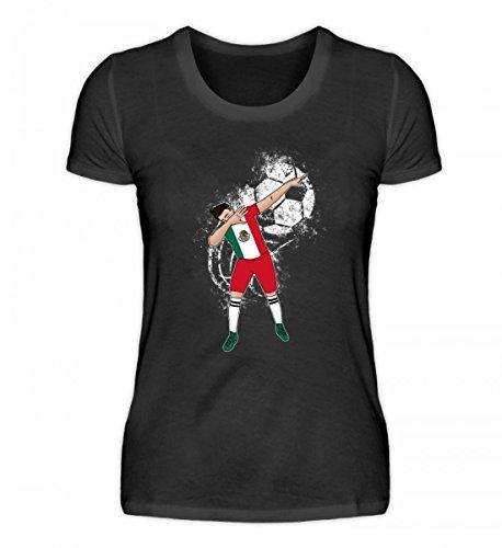 EBENBLATT Hochwertiges Damenshirt - Dabbender Fußballer Mexiko Trikot - Mexiko/Fußball Trikot/Nationalmannschaft