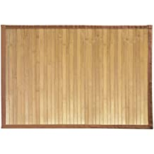 Amazon Fr Tapis De Bain Bambou