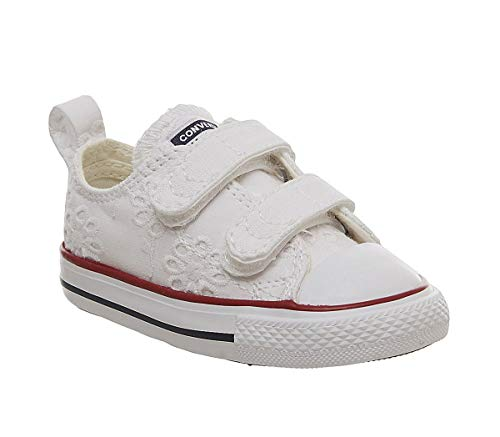 Converse Chuck Taylor All Star 2V BROADERIE ANGLIAS OX Sneaker Madchen Weiss - 23 - Sneaker Low -
