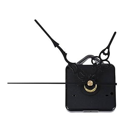 SODIAL(R) Mecanismo Maquinaria de Reloj Cuarzo Horario Minutero Segudero Negro