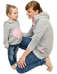 LILICAT Sudaderas con Capucha Familiares, Madre e Hijos Baby Girl Matching Outfit, Mam y yo Sudadera en Forma de corazón (Niña: 4 Años,…