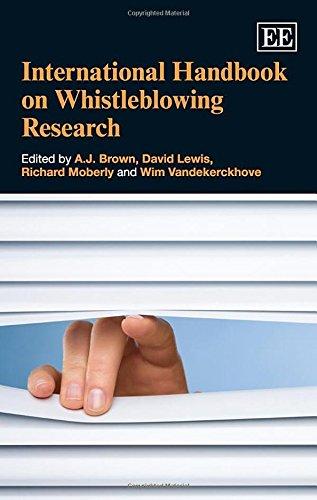 International Handbook on Whistleblowing Research (Elgar Original Reference)