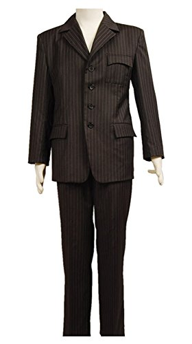 Kucos Doctor Who Dr Braun Nadelstreifen Suit Anzug Cosplay Kostüm Herren XL