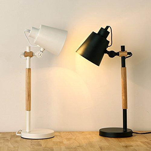Das Bett Lampe _ Inneneinrichtungsgegenstände Kreative Holz - Schlafzimmer Mit Lampe Zimmer Log Leselampe,Weiße -