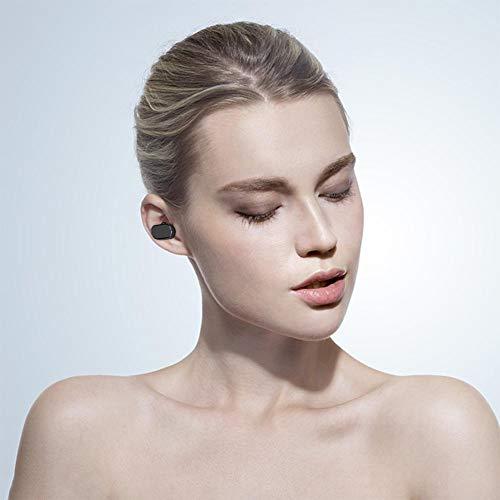 Bluetooth 5.0 drahtlose Ohrhörer, drahtlose Kopfhörer Bluetooth Ohrhörer drahtlose Kopfhörer mit Lade Fall Mini 3D Stereo Sound Binaural für IPhone Samsung Android Telefone (schwarz) - 8