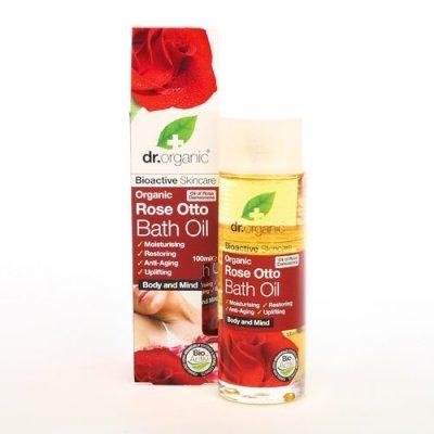 Dr. Organic Huile de Bain/Massage à la Rose Bio 100 ml