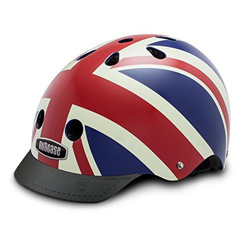Nutcase Gemusterter Street Bike  für Erwachsene, Mehrfarbig (Union Jack), M (56-60 cm) -