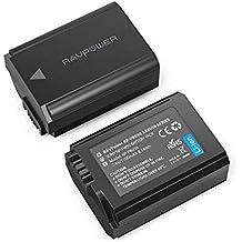 RAVPower NP FW50 2 Pack 1100mAh Kamera Akku für Sony Alpha7 / 7ii / 6500/6400 / 6300/6000 / 5100 NEX-7 NEX-F3 NEX-3 NEX-3N NEX-C3 Nex-5 NEX-5N NEX-5T SLT A55V A33 A35 A37 usw. (Generalüberholt)