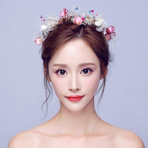 Girlande, Braut Kopfschmuck Studio koreanischen Stil Getrocknete Blumen Haarschmuck Haarbänder Stirnband am Meer