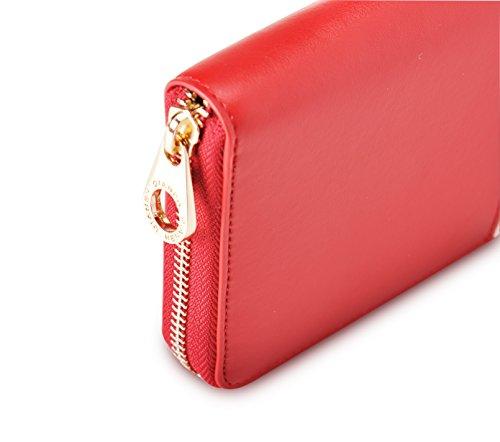 Borsa di credito della borsa delle signore della holding della carta del raccoglitore di Cluth della borsa di lusso di grande capacità di blocco delle donne di (Color-01) Color-07