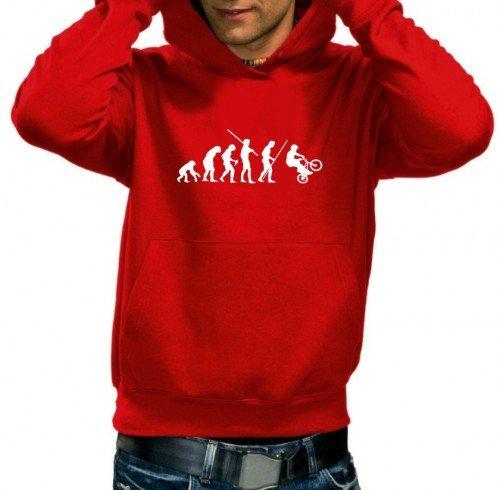 BMX Evolution - Sweatshirt mit Kapuze Rot-HOODIE, Gr.S