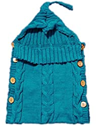 saco de dormir del bebé NWYJRSaco lana Manual suave acogedor Anti kick caliente pies bebé lecho Swaddle Wrap Pack adecuado para recién nacidos , days blue