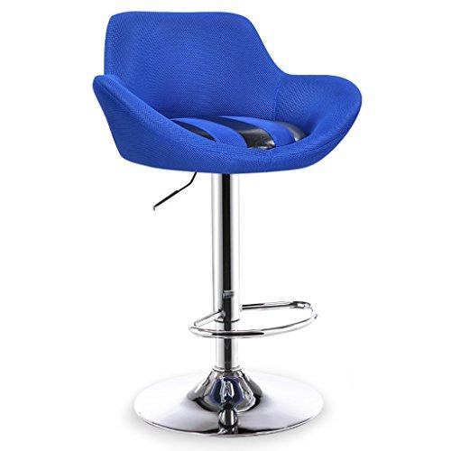 LI JING SHOP - Chaise élévatrice Tabouret à dossier réglable Chaise à manger Chapeau de style européen Rotate Barstool (Couleur : Bleu)