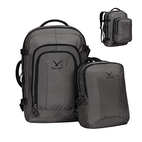 Hynes Eagle bagaglio a mano 38 + 10 litri con zainetto rimovibile Zaino da viaggio Zaino da viaggio Zaino da viaggio Zaino da esploratore 17 pollici 54x35x20 cm per viaggi e viaggi di lavoro Grigio